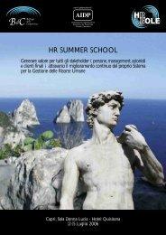 HR SUMMER SCHOOL - Cisl