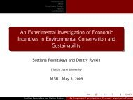 An Experimental Investigation of Economic Incentives in ... - MSRI