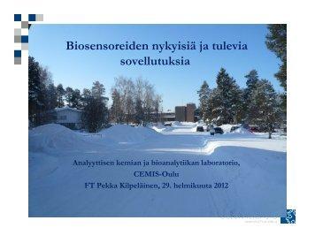 Biosensoreiden nykyisiä ja tulevia sovellutuksia - Oamk