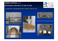 DIMMS CONTROL s.r.l. – Geotechnical Laboratory of soils & rocks