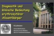 Kein Folientitel - Transfusionsmedizin Universitaet Rostock ...