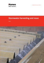 Stormwater harvesting and reuse brochure - Humes