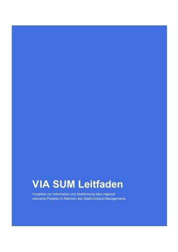 VIA SUM Leitfaden - Stadt-Umland Management