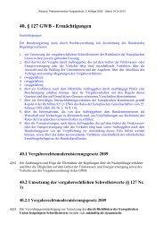 40. § 127 GWB - Ermächtigungen - Oeffentliche Auftraege