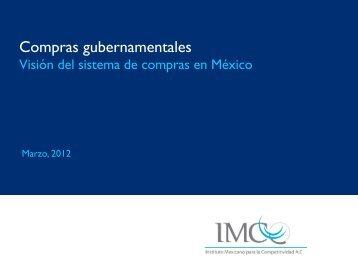 Compras gubernamentales - Instituto Mexicano para la ...