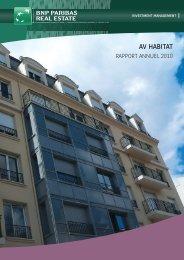 Rapport annuel - AV Habitat - 2010 - BNP Paribas REIM