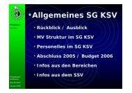 •Allgemeines SG KSV