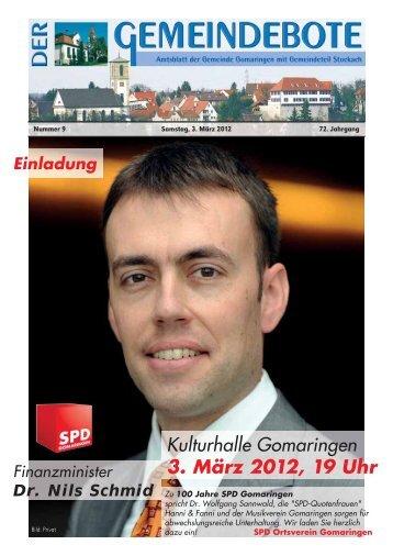 Ausgabe :Gomaringen 03.03.12.pdf - Gomaringer Verlag