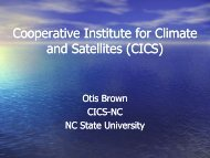 Cooperative Institute for Climate and Satellites - NOAA in the ...