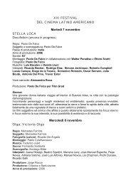 schede tecniche film - Festival del Cinema Latino Americano a Trieste
