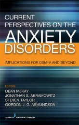 Current Perspectives on Anxiety Disorders - Nmhrc.com