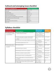 Cultural and emerging issue checklist Syllabus checklist