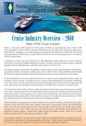 Cruise Industry Overview and Statistics - The Florida-Caribbean ...
