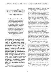 Jack London and Ross River Disease on the ... - Frank Praetorius