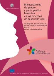 Mainstreaming de género y participación femenina en los procesos ...