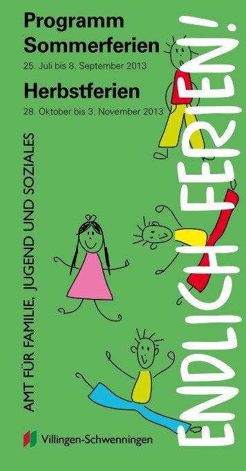 Kinderferienprogramm zum Download - Villingen-Schwenningen