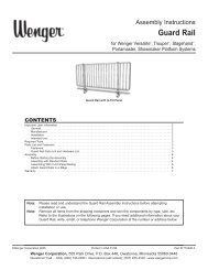 Guard Rail - Wenger Corporation