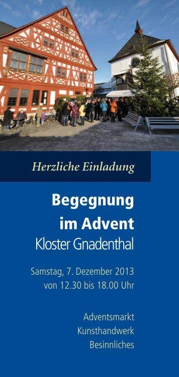 Begegnung im Advent Kloster Gnadenthal