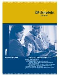 CIP Schedule Fall 2011 - Insurance Institute of Canada