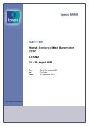 Norsk seniorpolitisk barometer, ledere 2012 - Senter for seniorpolitikk