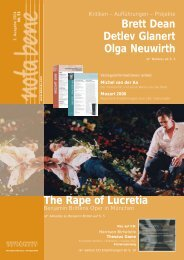 Brett Dean Detlev Glanert Olga Neuwirth The Rape of Lucretia