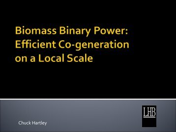 Biomass Binary Power - Clean Energy Resource Teams