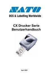 CX Drucker Serie Benutzerhandbuch - ServoPack