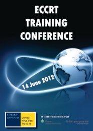 ECCRT TRAINING CONFERENCE 14 June 2012 - Visualis