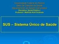 SUS – Sistema Único de Saúde - Saúde Pública I