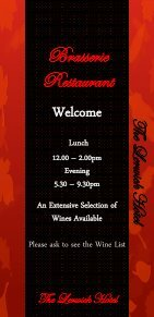 Brasserie menu - Shetland Hotels - Page 2