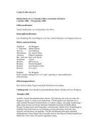 CARLSTADS-GILLET Rådsberättelse över Carlstads-Gillets ...