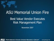 Related Presentation - Risk Management of a Best Value Vendor