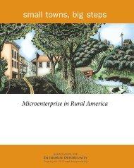 Big steps: Microenterprise in Rural America - Field