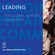 aci activities 2004 - Airports Council International