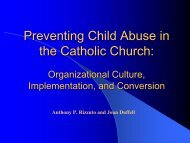 Preventing Child Abuse in the Catholic Church: - Pal-Tech