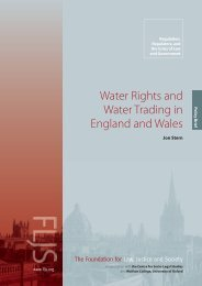 Water Rights and Water Trading in England and Wales