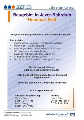 JEV Husumer Feld - Volksbank Jever eG