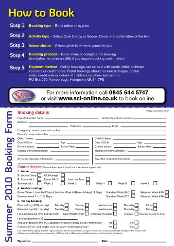 How to Book - SCL