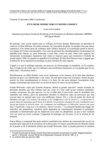 090820 Louis Join-Lambert conclusion reprise ljl ... - Joseph Wresinski