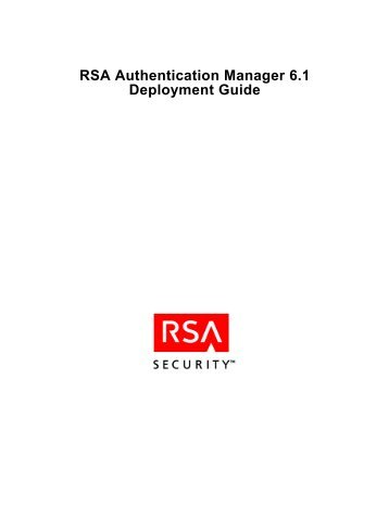 RSA Authentication Manager 6.1 Deployment Guide - The Ether ...