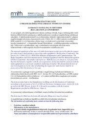 Kitöltési útmutató a nem polgári célú ... - Nemzeti Média