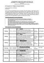 AG Angebote im 2. Halbjahr (pdf) - Joseph-Heckler-Schule