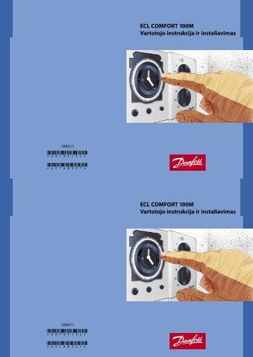 ECL COMFORT 100M Vartotojo instrukcija ir instaliavimas ... - Danfoss