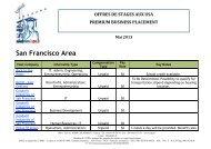 Les Offres de Stage de la semaine du 6 Mai 2013 - ISPA