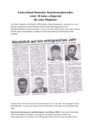 Jubiläumsartikel Fachverband Deutscher Stanzformhersteller - ESU