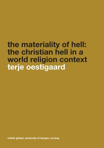 the materiality of hell: the christian hell in a world religion context ...