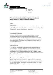 Principer för kostnadstäckning i samband med avveckling och ... - SLU
