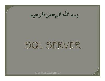 Abtahi & Izadpanah (SQL Server)