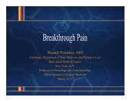 03 19 1530 Russell Portenoy, MD – Breakthrough Pain