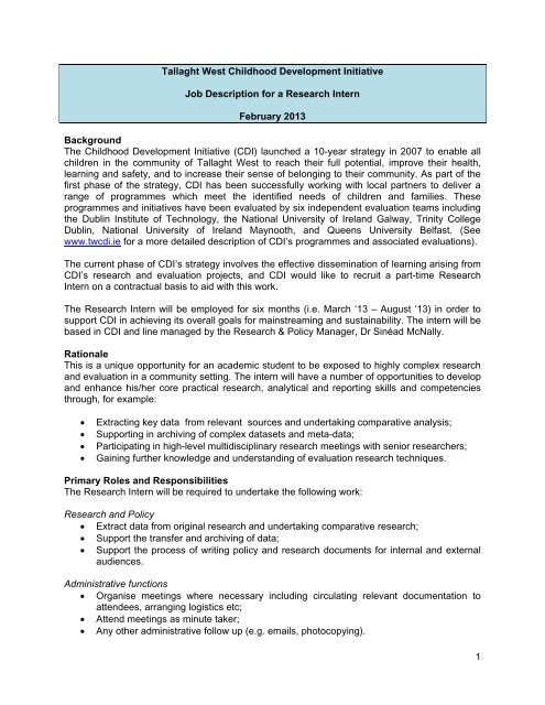 CDI Research Intern Job Description Feb 2013-1 pdf - Careers